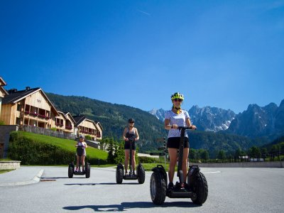 Segway fahren im Salzkammergut: Unterwegs mit den Guides von Checkpoint in Gosau die Schönheiten des Gosautals  genießen.