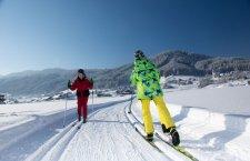 © Kraft | Wintersport im Salzkammergut: Langlaufen in Gosau | Dorfloipe im Gosautal.