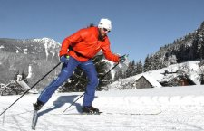 © Kraft | Wintersport im Salzkammergut: Langlaufen in Gosau | Sportloipe im Gosautal.