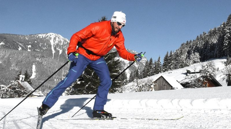 © Kraft   Wintersport im Salzkammergut: Langlaufen in Gosau   Sportloipe im Gosautal.