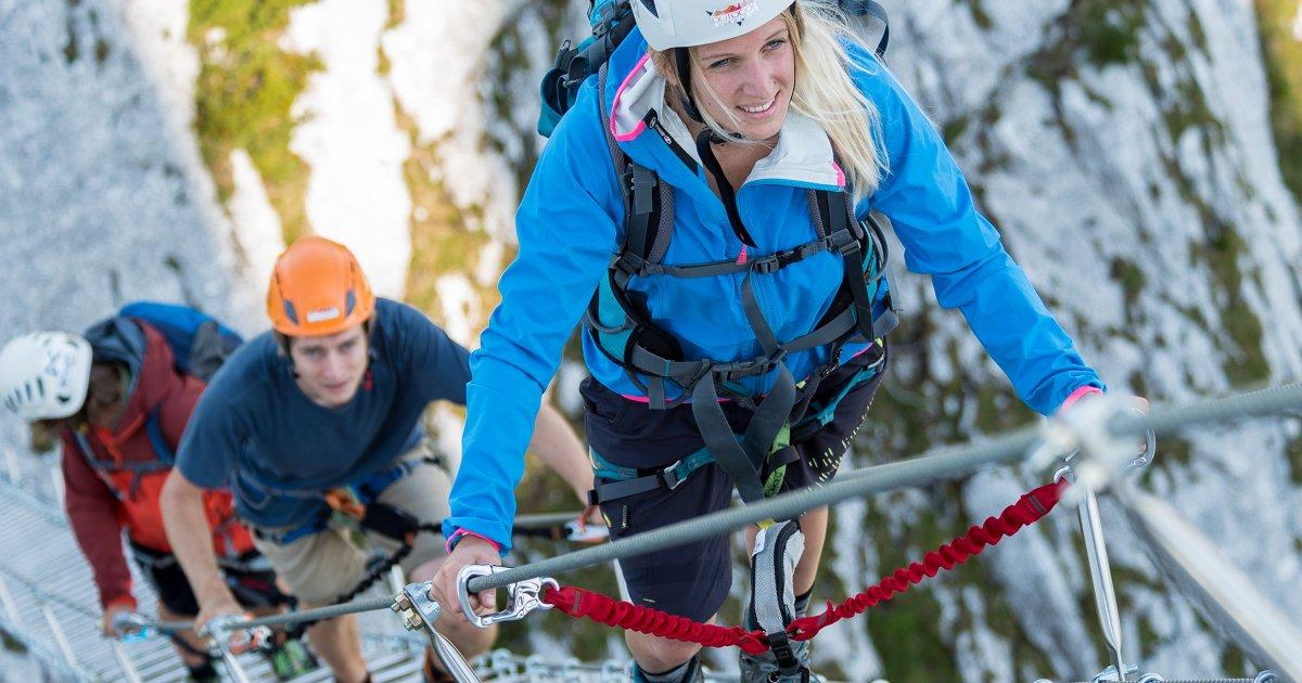 Klettersteig Urlaub : Klettersteig am donnerkogel in gosau urlaub