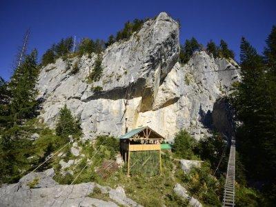 © Outdoor Leadership | Klettern bei einem Urlaub in der UNESCO Welterberegion Hallstatt Dachstein Salzkammergut in Österreich