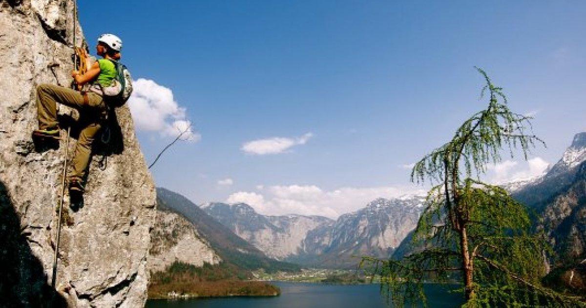 Klettersteig Urlaub : Neuer echernwand klettersteig in hallstatt urlaub