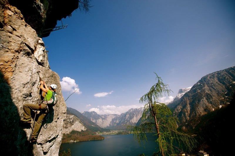 Klettersteig Hallstatt : Neuer echernwand klettersteig in hallstatt urlaub