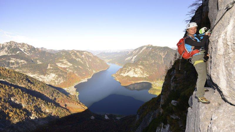 Klettersteig Hallstatt : Klettertour echernwand klettersteig d hallstatt youtube