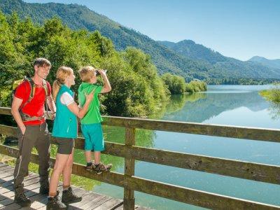 """© Fuschlseeregion-Erber   Wandern und Wanderwege bei einem Wanderurlaub & Urlaub im Salzkammergut: Fernwanderwege & Weitwanderwege """"BergeSeen Trail"""""""