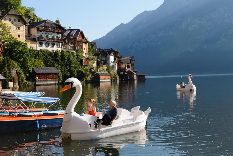 Mit Dem E Boot 252 Ber Den Hallst 228 Ttersee 187 Your Holiday In