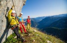 © Outdoor Leadership  | Klettern im Salzkammergut. Klettersteige on Gosau bei einem Kletterurlaub in der UNESCO Welterberegion Hallstatt Dachstein Salzkammergut