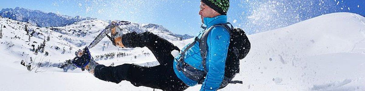 Schneeschuhwandern auf dem Feuerkogel in Ebensee i Salzkammergut -