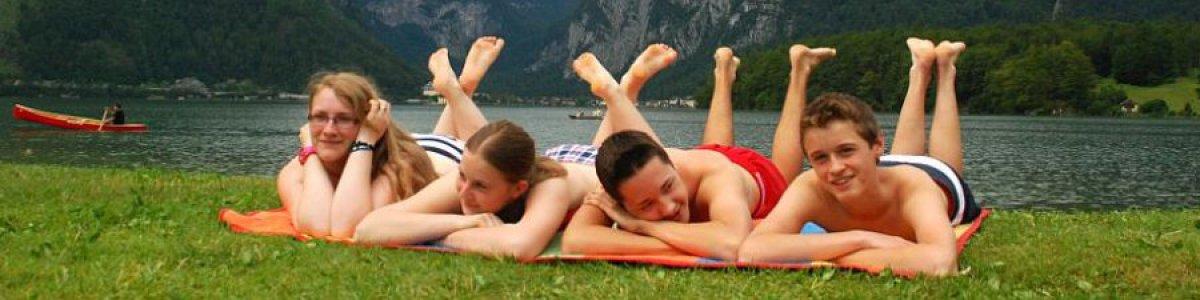 Badeurlaub im Salzkammergut: Strandbad Obertraun -