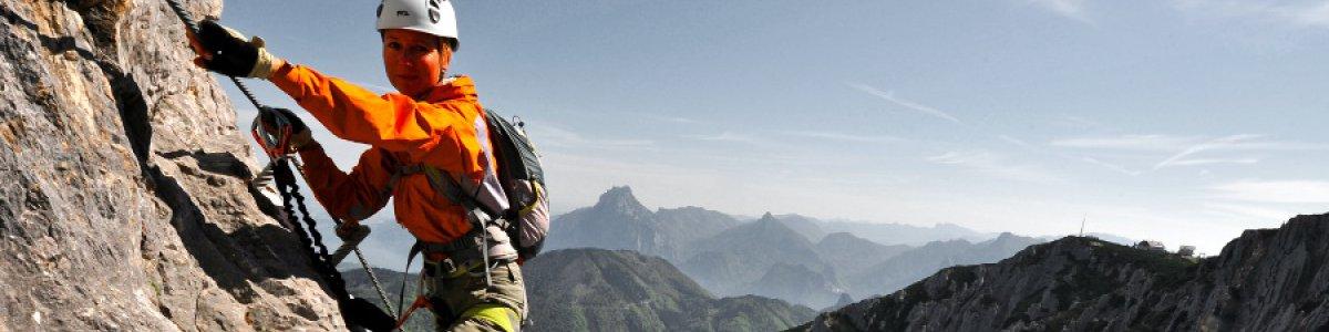HTL Wels Klettersteig auf dem Feuerkogel in Ebensee am Traunsee - © Outdoor Leadership