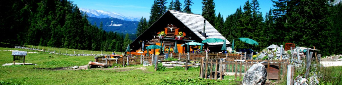 Rustic mountain rest stop on the Rossalm  - © Kraft