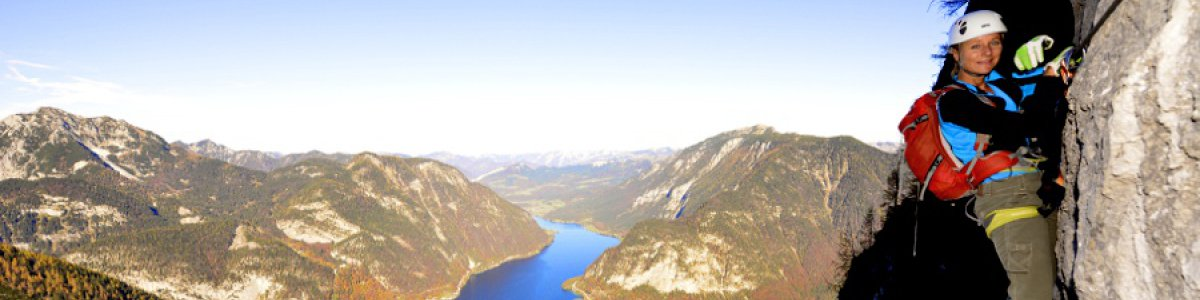 Rock climing in Hallstatt: Seewand fixed rope course - © Outdoor Leadership