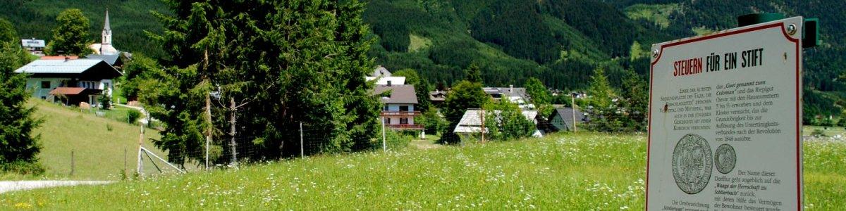 Der schönste Weg mehr über ihren Urlaubsort zu erfahren: Themenweg Gosau  - © Kraft