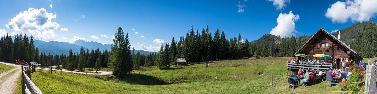 Iglmoosalm in Gosau bei einem Urlaub im Salzkammergut - © Kraft