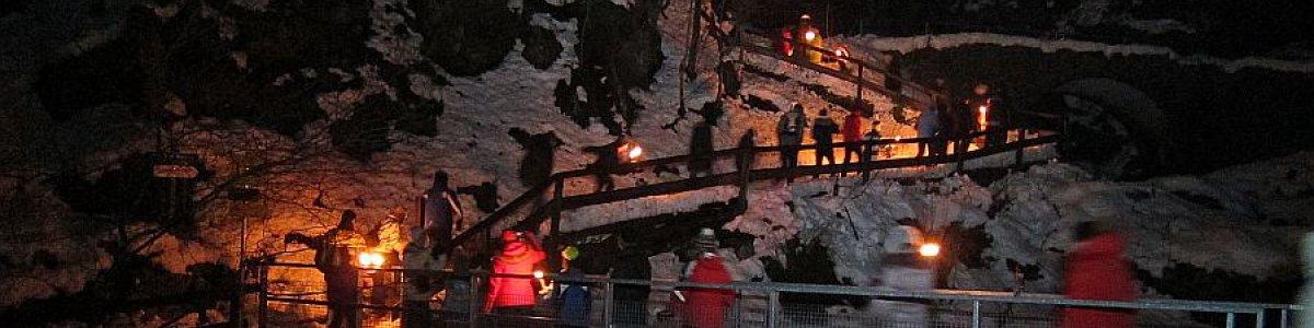 Neujahrsfeier in der Koppenbrüllerhöhle in Obertraun  - © Höhlenverein