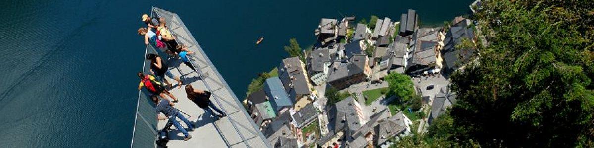Aussichtsplattform Welterbeblick auf dem Salzberg in Hallstatt - © Kraft