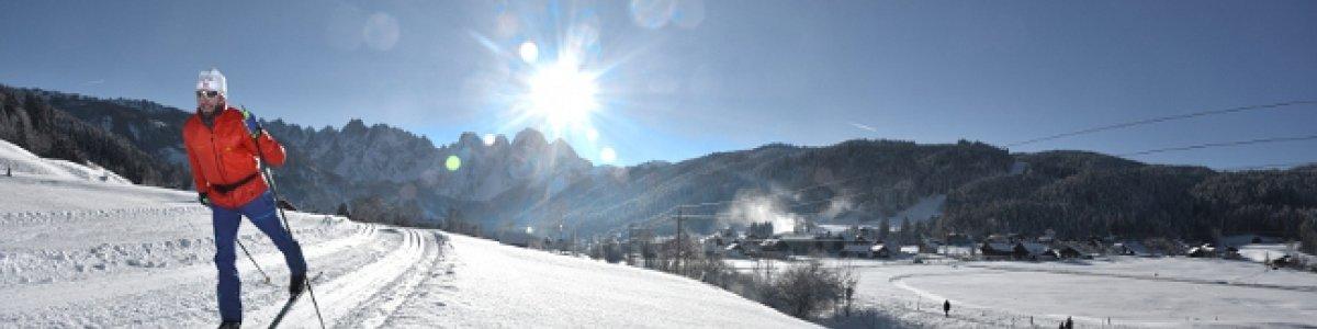 Ski-Langlaufen beim Winterurlaub in Gosau - © Kraft