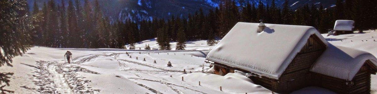 Skitour zur Goisererhütte - © bergaufundbergab.at