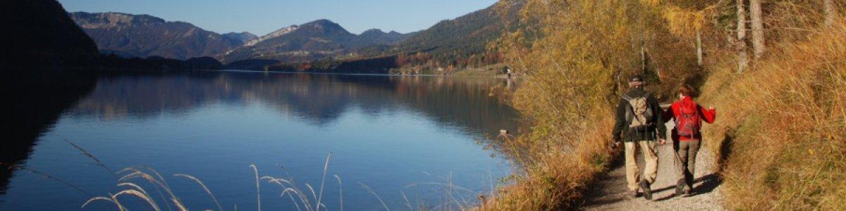 Das ist der Herbst im Salzkammergut: Ostuferwanderweg am Hallstättersee - © Kraft