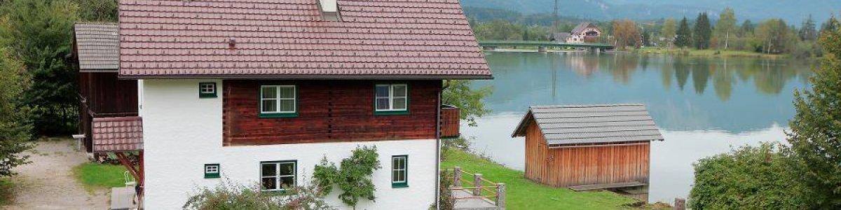 Urlaub am Hallstattersee: Haus am See in Steeg/Bad Goisern -