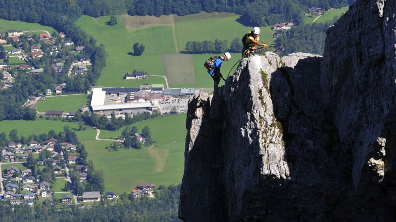 Klettersteig Katrin : Der katrin klettersteig mit luftigem gipfelgrat via ferrata